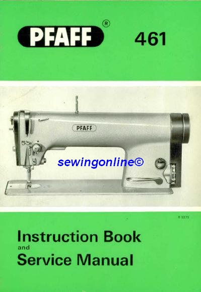 Sewing machine instruction book service instructions click on image to