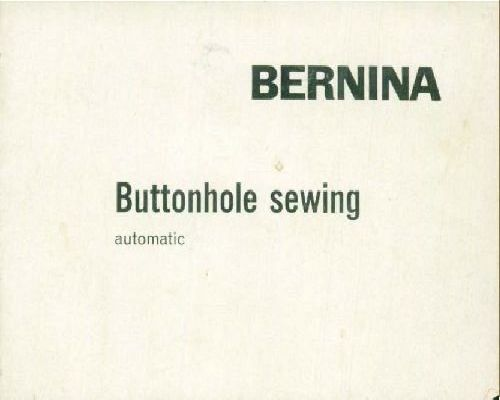 bernina activa 140 instruction manual