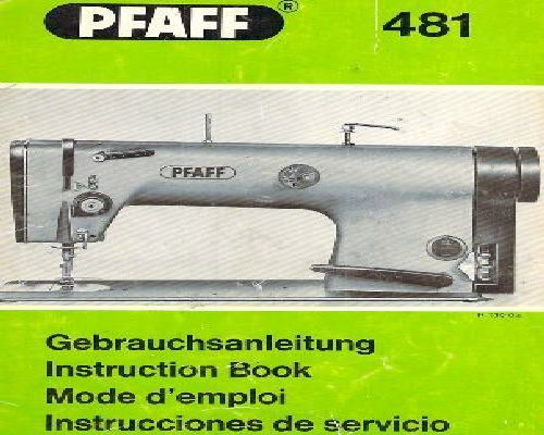 Pfaff 481 industrial sewing machine manual click on image to enlarge