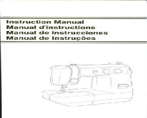 Jones Sewing Machine Instruction Manuals