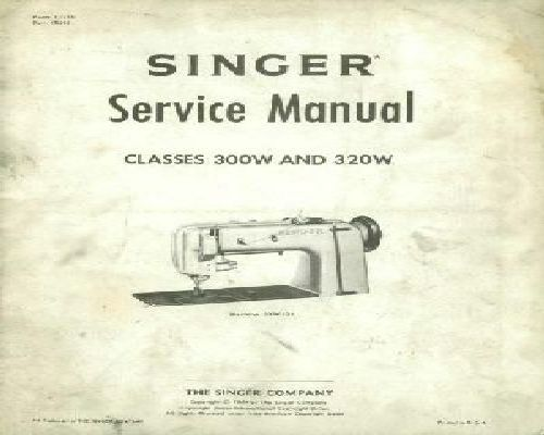 Singer Industrial Service Sewing Machine Instruction Manuals