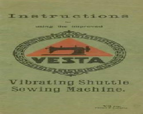 Vesta Sewing Machine Instruction Manuals