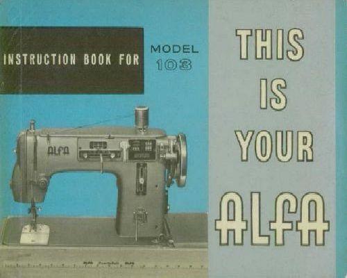 Alfa 103 sewing machine manual.