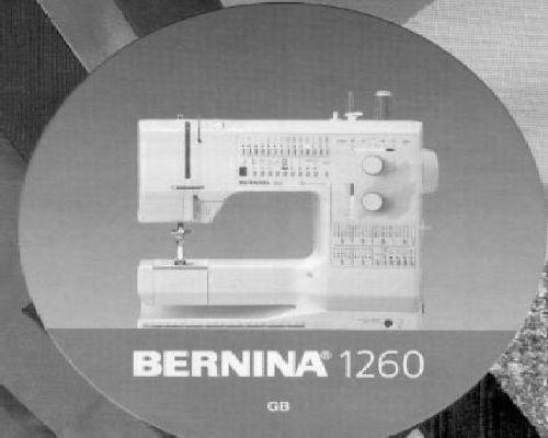 Bernina sewing machine instruction manuals bernina 1260 sewing machine instruction manual immediate download pdf fandeluxe Gallery
