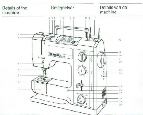 bernina 1015 sewing machine instruction manual