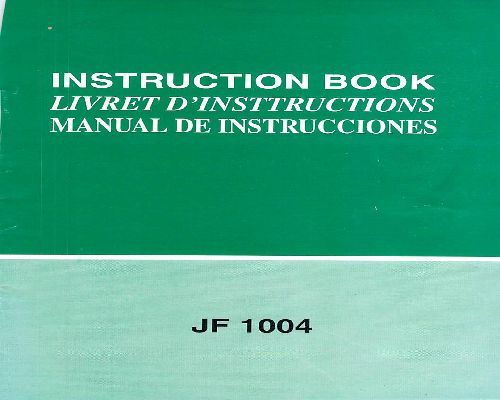 Janome Sewing Machine Instruction Manuals