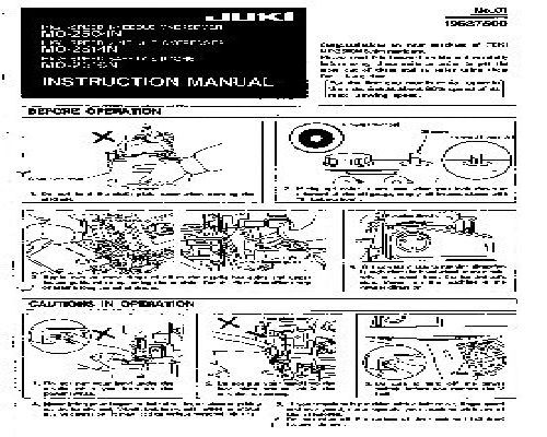 Juki Industrial Sewing Machine Instruction Manuals Magnificent Juki Industrial Sewing Machine Instruction Manual