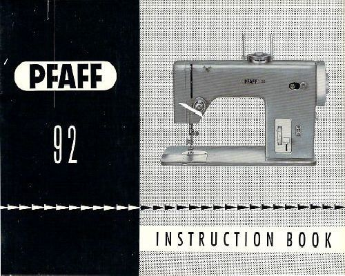 Pfaff Sewing Machine Instruction Manuals