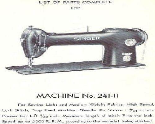 Singer Industrial Sewing Machine Parts Books List 8