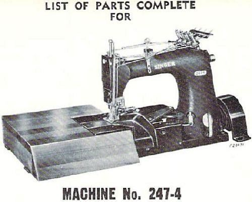 Singer Industrial Sewing Machine Parts Books List 9