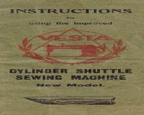 Vesta Sewing Machine Instruction Manuals