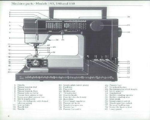 viking husqvarna 190 180 150 sewing machine instruction manual
