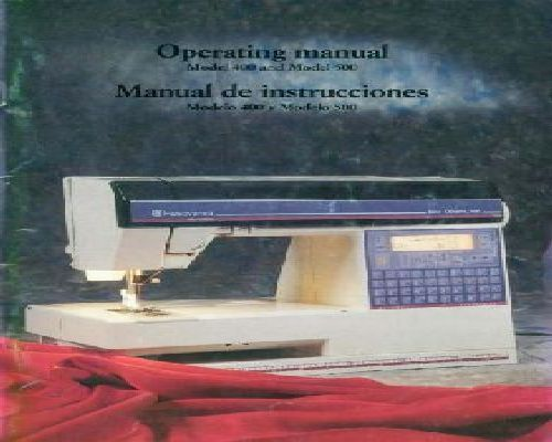 Viking 400 500 Sewing Machine Instruction Manual